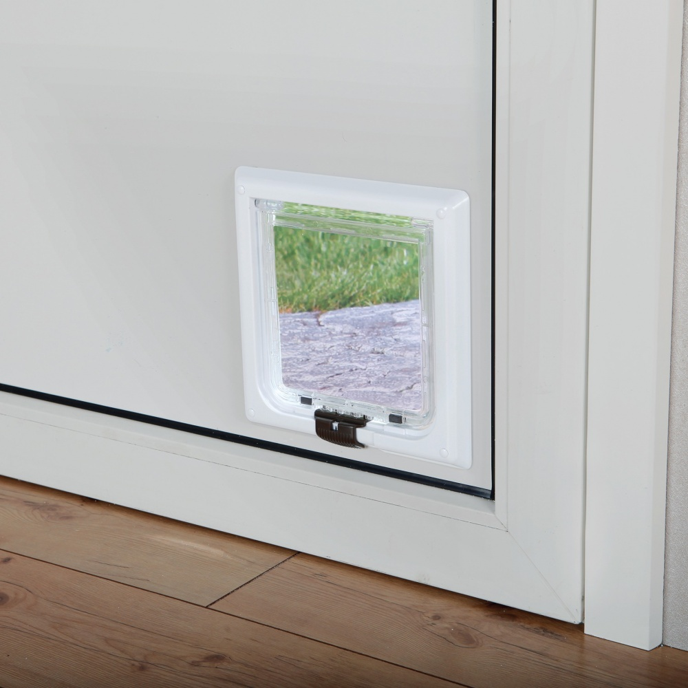 caabc47e1ae4 ΠΟΡΤΑ ΓΑΤΑΣ TRIXIE 4 WAY CAT FLAP EXTRA LARGE - WHITE (24 x 24 cm)
