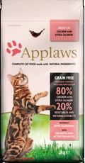 ΞΗΡΑ ΤΡΟΦΗ APPLAWS ΜΕ ΣΟΛΟΜΟ ADULT CAT SALMON (GRAIN FREE) - 400GR