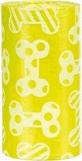 ΣΑΚΟΥΛΕΣ ΑΠΟΡΡΙΜΑΤΩΝ TRIXIE DOG DIRT BAGS ΜΕ ΑΡΩΜΑ ΛΕΜΟΝΙ - Χρώμα: Κίτρινο, 4 Ρολλά των 20 τεμαχίων