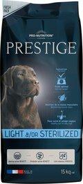ΞΗΡΑ ΤΡΟΦΗ PRESTIGE LIGHT &/OR STERILIZED ΓΙΑ ΣΤΕΙΡΩΜΕΝΟΥΣ Ή ΥΠΕΡΒΑΡΟΥΣ ΣΚΥΛΟΥΣ - 15kg + ΔΩΡΟ 3kg